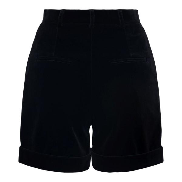 Pantaloncini morbidi neri con risvolto                                                                                                                 SAINT LAURENT                                      SAINT LAURENT