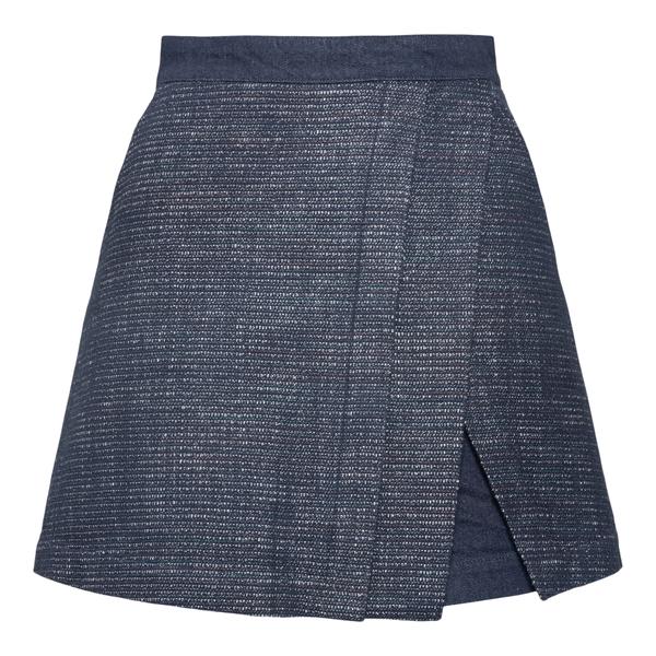 Blue mini skirt shorts                                                                                                                                Emporio Armani 6K2P85 back