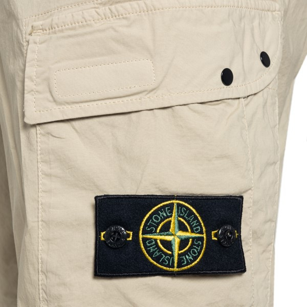 Beige bermuda with logo patch                                                                                                                          STONE ISLAND
