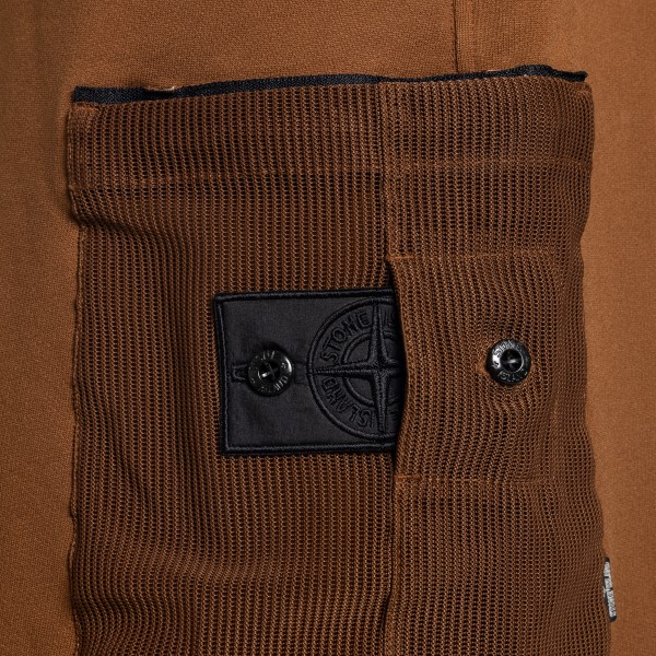 Brown shorts with mesh pockets                                                                                                                         STONE ISLAND SHADOW PROJECT