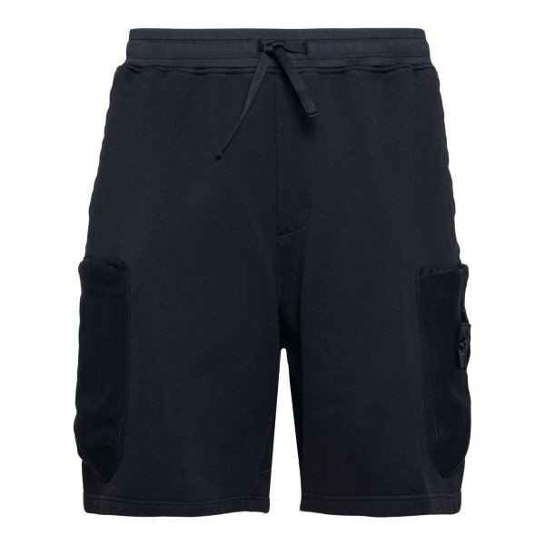 Black shorts with logo patch                                                                                                                          Stone Island Shadow Project 7419603 back