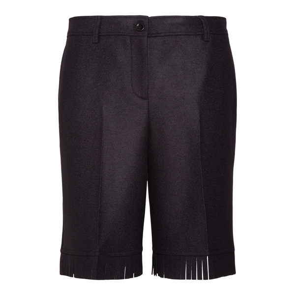 Brown shorts with fringes                                                                                                                             Burberry 8046913 back
