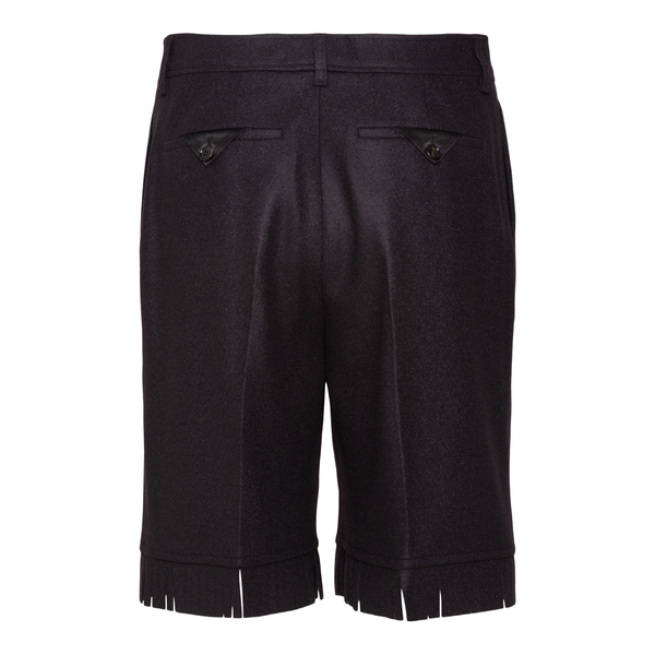 Brown shorts with fringes                                                                                                                              BURBERRY