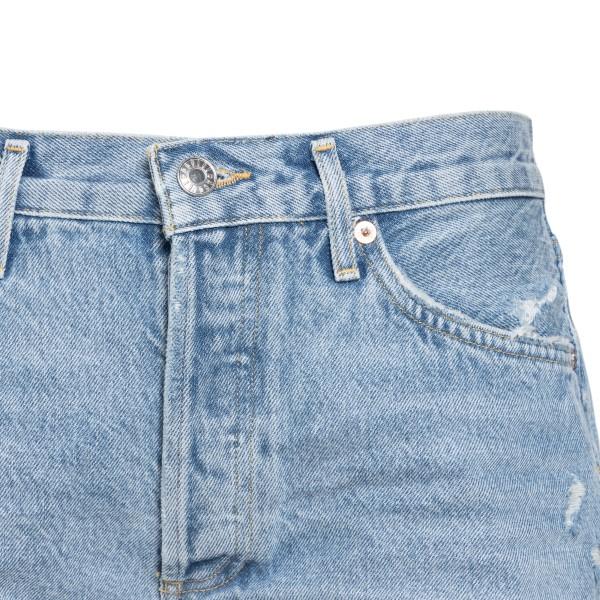 Pantaloncini azzurri a effetto vissuto                                                                                                                 AGOLDE                                             AGOLDE