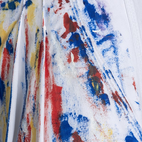 White pants with paint splatters                                                                                                                       PHILOSOPHY