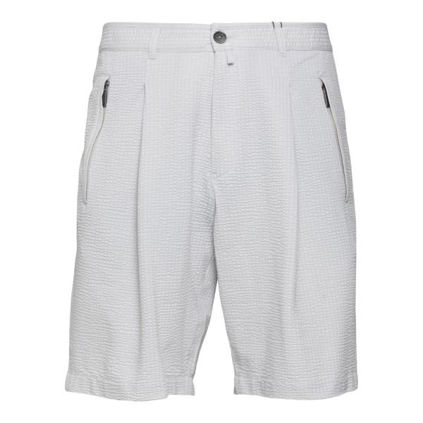 Ice-colored Bermuda shorts with pleats                                                                                                                Emporio Armani A1P930 back