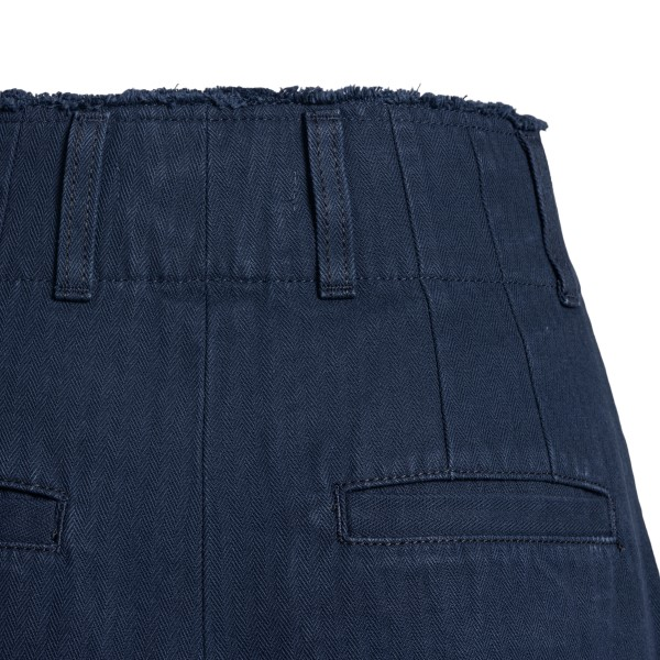Blue shorts with curved flap                                                                                                                           CHLOE'