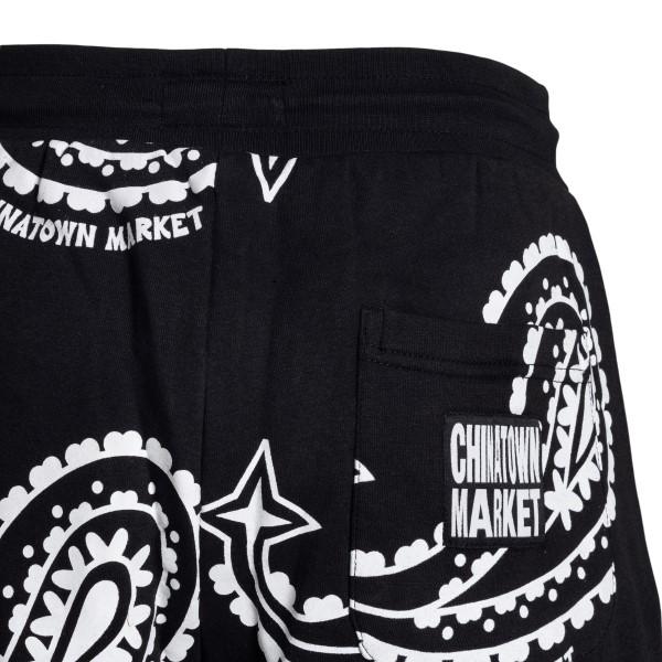 Pantaloncini neri a stampa paisley                                                                                                                     CHINATOWN MARKET                                   CHINATOWN MARKET