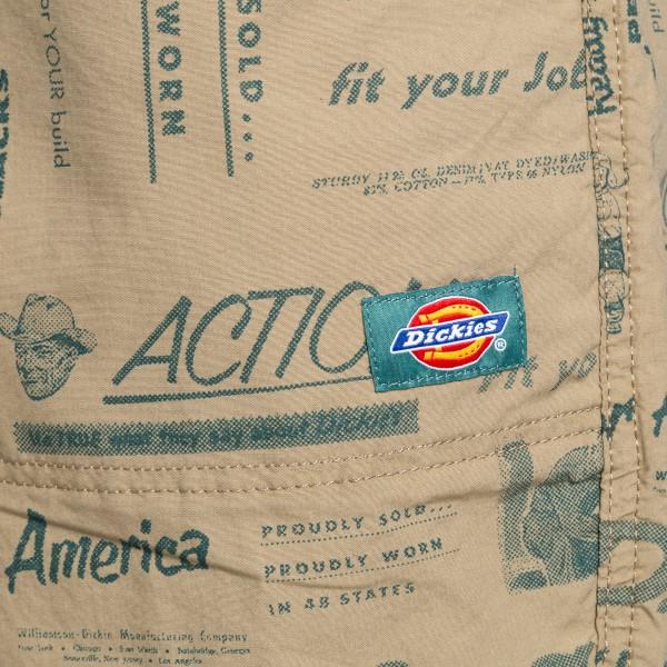 Pantaloncini sabbia con stampa scritte                                                                                                                 DICKIES                                            DICKIES