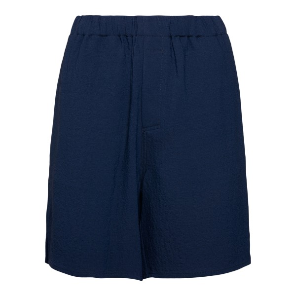 Lightweight dark blue shorts                                                                                                                          Ami E21FT760 back