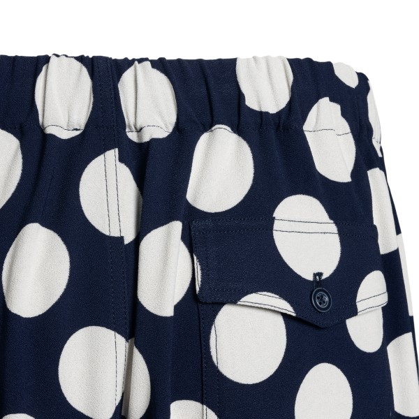 Blue bermuda with white polka dots                                                                                                                     AMI