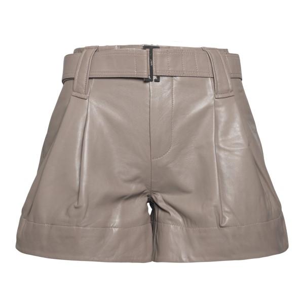 Leather shorts in grey                                                                                                                                Ganni F5898 back