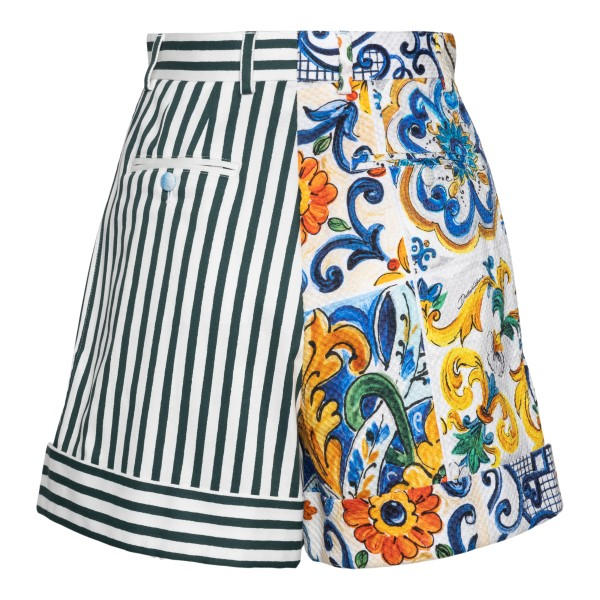 Multicolored shorts with prints                                                                                                                        DOLCE&GABBANA