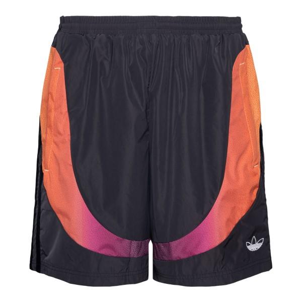 Pantaloncini neri con fascia multicolore                                                                                                              Adidas Originals GN2467 retro