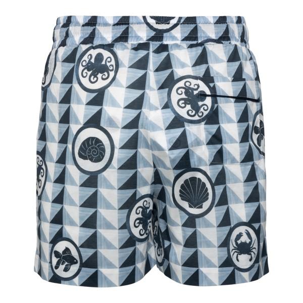 Pantaloncini azzurri a fantasia geometrica                                                                                                             DOLCE&GABBANA                                      DOLCE&GABBANA