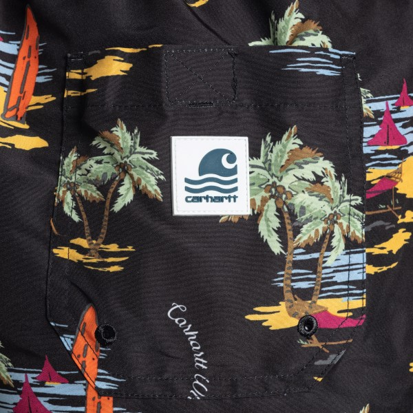 Pantaloncini neri con stampa grafica                                                                                                                   CARHARTT