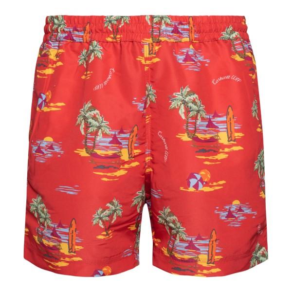Pantaloncini rossi con stampa grafica                                                                                                                 Carhartt I015812 retro