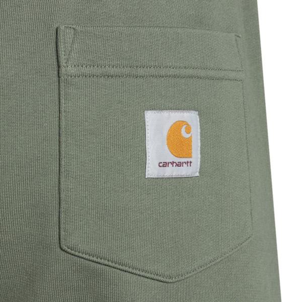 Bermuda in verde militare con patch logo                                                                                                               CARHARTT                                           CARHARTT