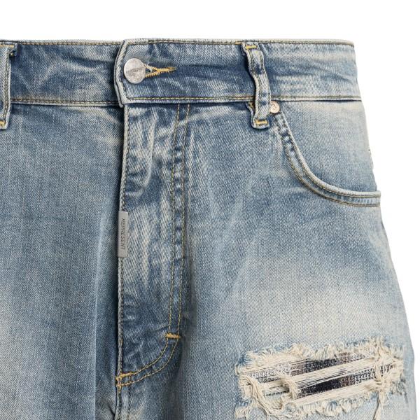 Pantaloncini in denim a effetto vissuto                                                                                                                REPRESENT                                          REPRESENT