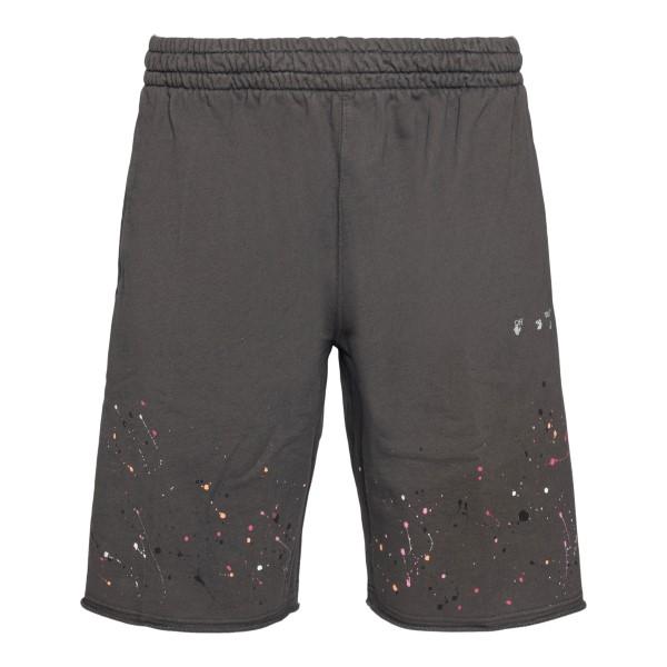 Pantaloni grigi con macchie di vernice                                                                                                                Off White OMCI006S21FLE006 retro