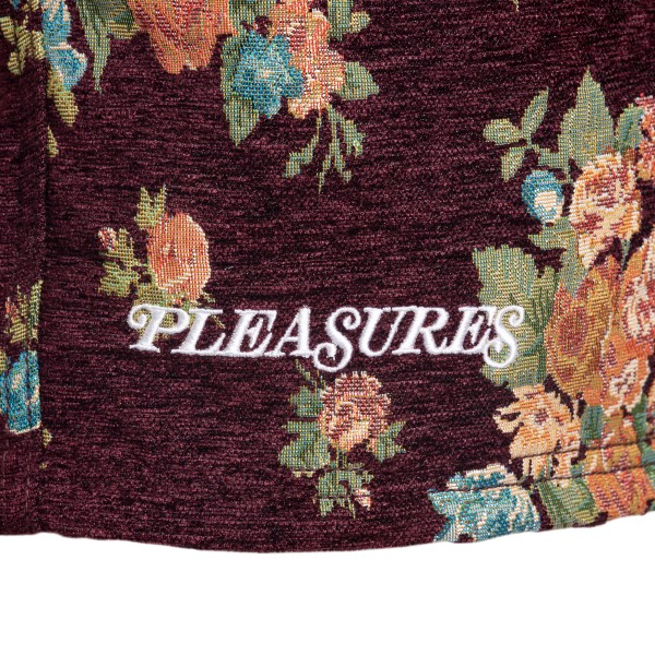 Burgundy shorts with flowers                                                                                                                           PLEASURES