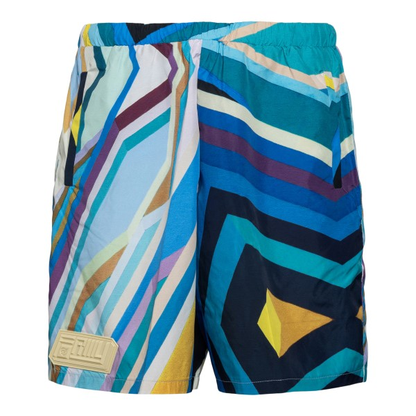 Blue shorts with abstract print                                                                                                                       Formystudio PBOC back