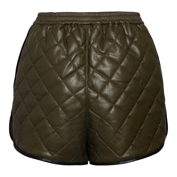 Padded green shorts                                                                                                                                    SELF PORTRAIT