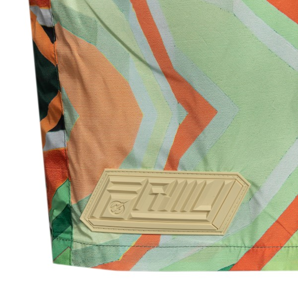 Green shorts with abstract print                                                                                                                       FORMYSTUDIO