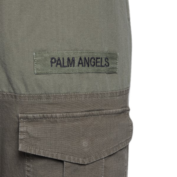 Cargo-style trousers in military green                                                                                                                 PALM ANGELS