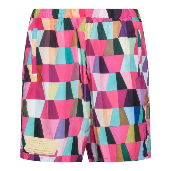 Pantaloncini fucsia a stampa geometrica                                                                                                               Formystudio PPTE retro