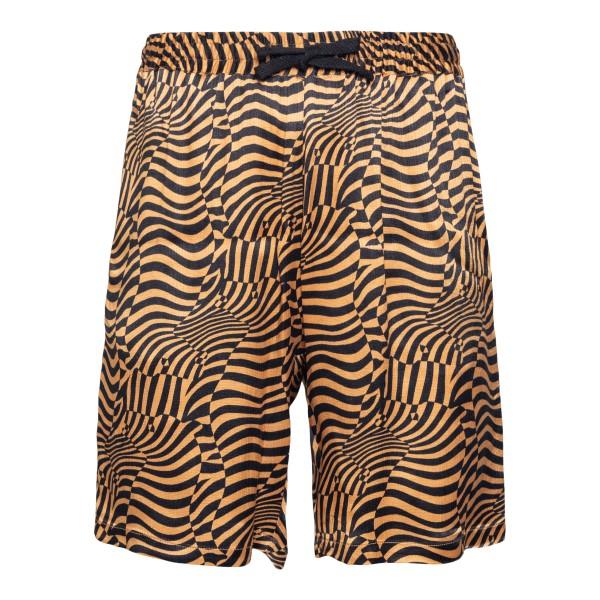 Striped black and orange shorts                                                                                                                       Garcons Infideles PSYCHOOSHORT06 back