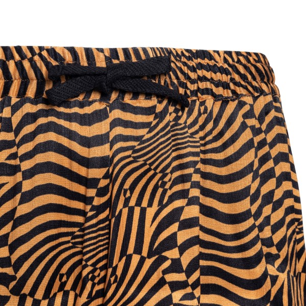 Striped black and orange shorts                                                                                                                        GARCONS INFIDELES