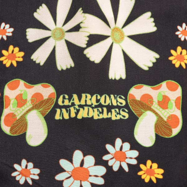 Pantaloncini neri a fiori                                                                                                                              GARCONS INFIDELES                                  GARCONS INFIDELES