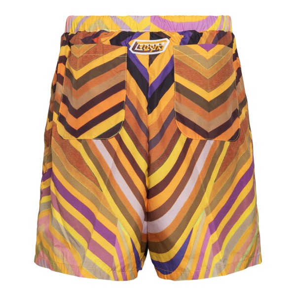 Yellow shorts with abstract print                                                                                                                      FORMYSTUDIO