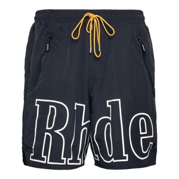 Pantaloncini neri con nome brand                                                                                                                      Rhude RHFW21PA08052372 retro