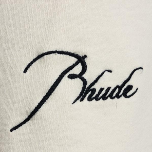 Bermuda color crema con ricamo logo                                                                                                                    RHUDE                                              RHUDE
