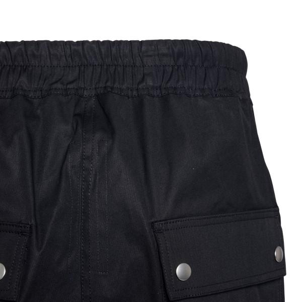Black bermuda shorts with drawstring and zip                                                                                                           RICK OWENS