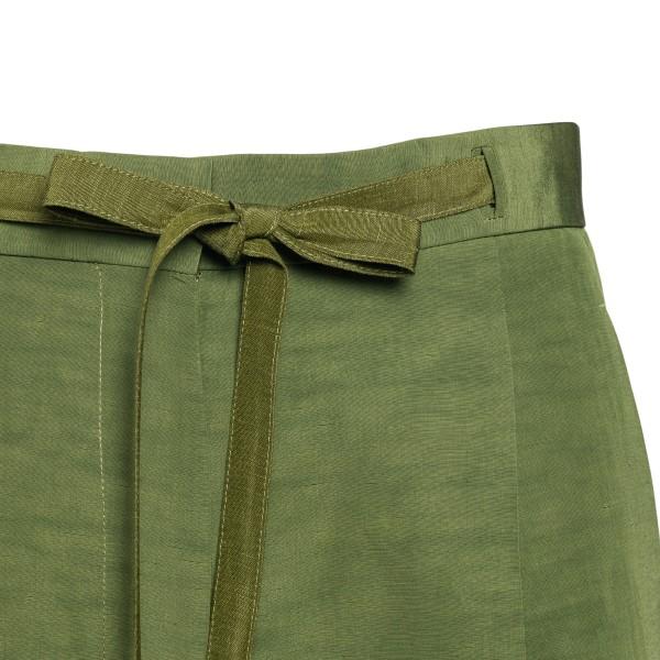 Pantaloncini verdi con nastro in vita                                                                                                                  LOEWE                                              LOEWE