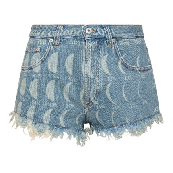 Denim shorts with moon prints                                                                                                                         Loewe Paula's Ibiza S616Y11X01 back