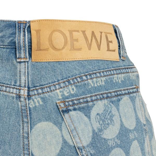 Denim shorts with moon prints                                                                                                                          LOEWE PAULA'S IBIZA