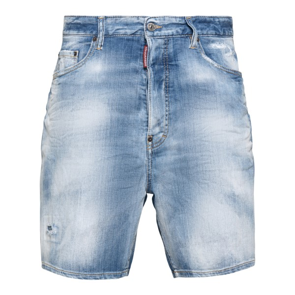 Light blue shorts with faded effect                                                                                                                   Dsquared2 S71MU0614 back