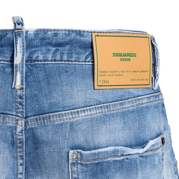 Pantaloncini azzurri effetto sbiadito                                                                                                                  DSQUARED2                                          DSQUARED2
