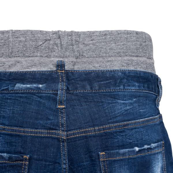 Pantaloncini in denim blu con pannello grigio                                                                                                          DSQUARED2                                          DSQUARED2