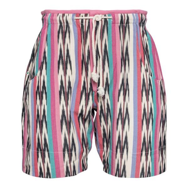 Multicolored patterned shorts                                                                                                                         Isabel Marant SH0378 back