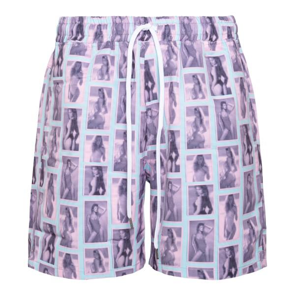 Pantaloncini rosa con stampe fotografiche                                                                                                             Stampd SLAM1540TR retro