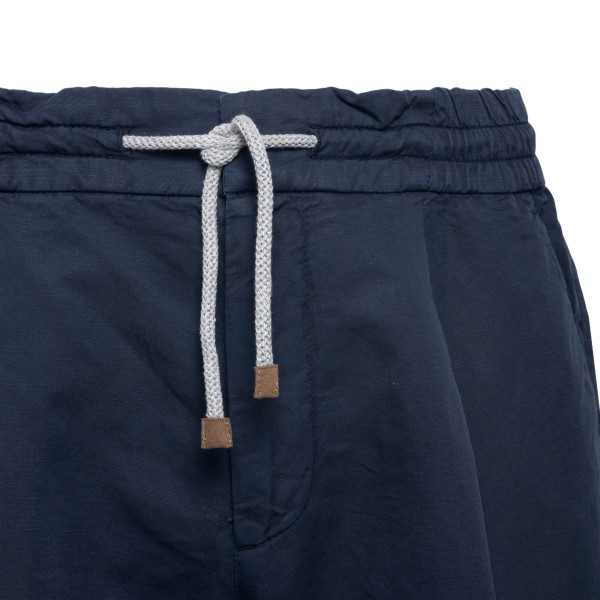 Blue shorts with drawstring                                                                                                                            BRUNELLO CUCINELLI