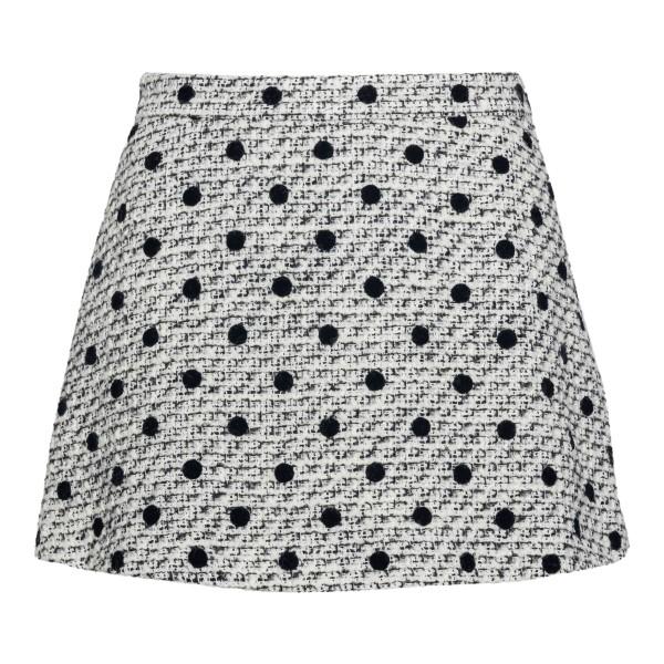 White polka dot skirt shorts                                                                                                                          Valentino VB3RA7H5 back