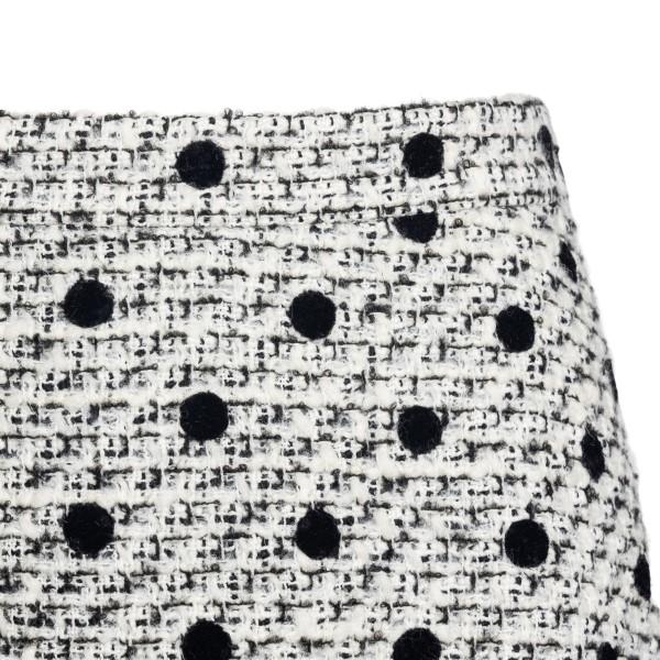 White polka dot skirt shorts                                                                                                                           VALENTINO