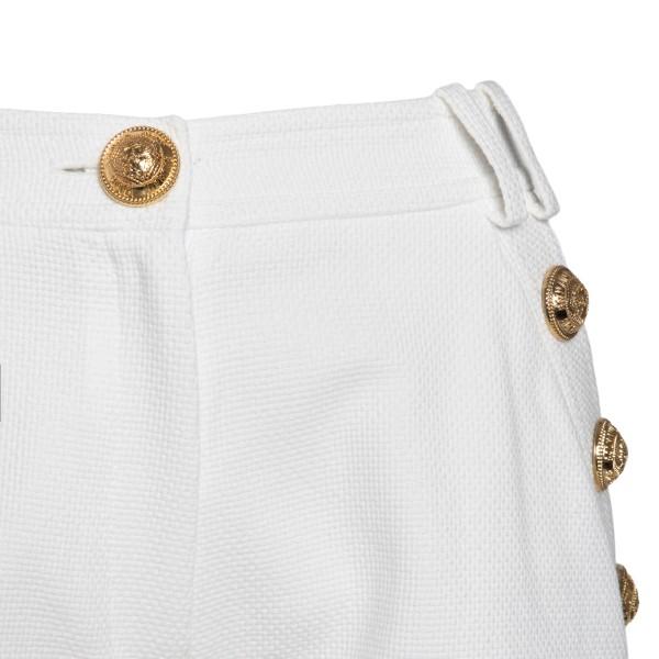 Pantaloncini bianchi con bottoni oro                                                                                                                   BALMAIN                                            BALMAIN