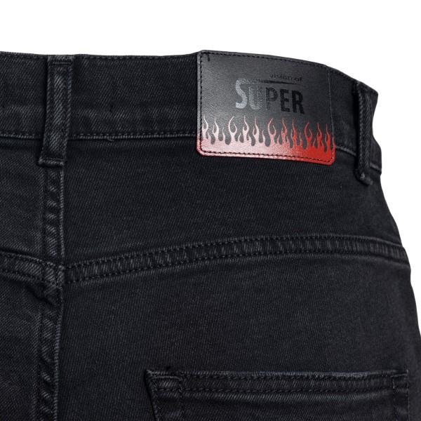 Black bermuda shorts with flame print                                                                                                                  VISION OF SUPER